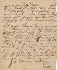 443. Francis Lynch to Bp Patrick Lynch -- December 23, 1866