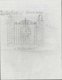 538 Wampler Drive, James Island, South Carolina entrance gate drawings and estimate.