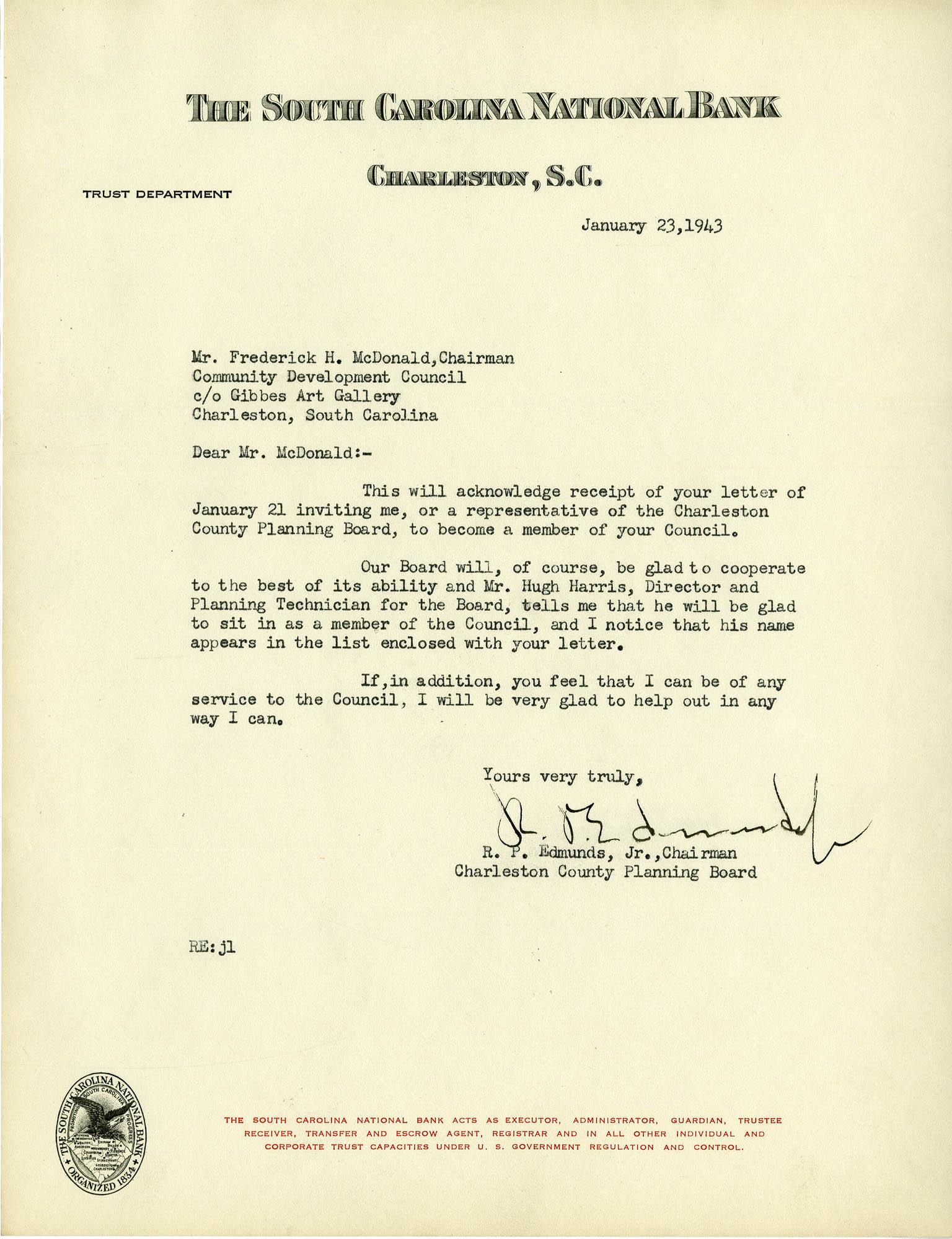 Folder 32: Edmunds Letter
