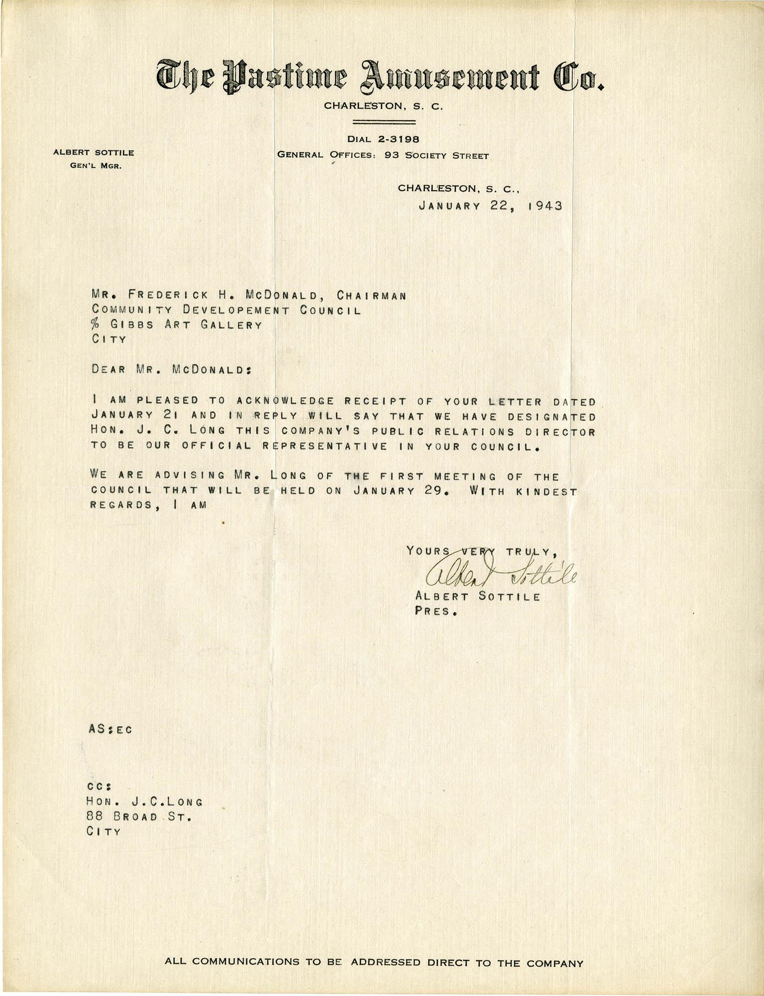 Folder 32: Sottile Letter