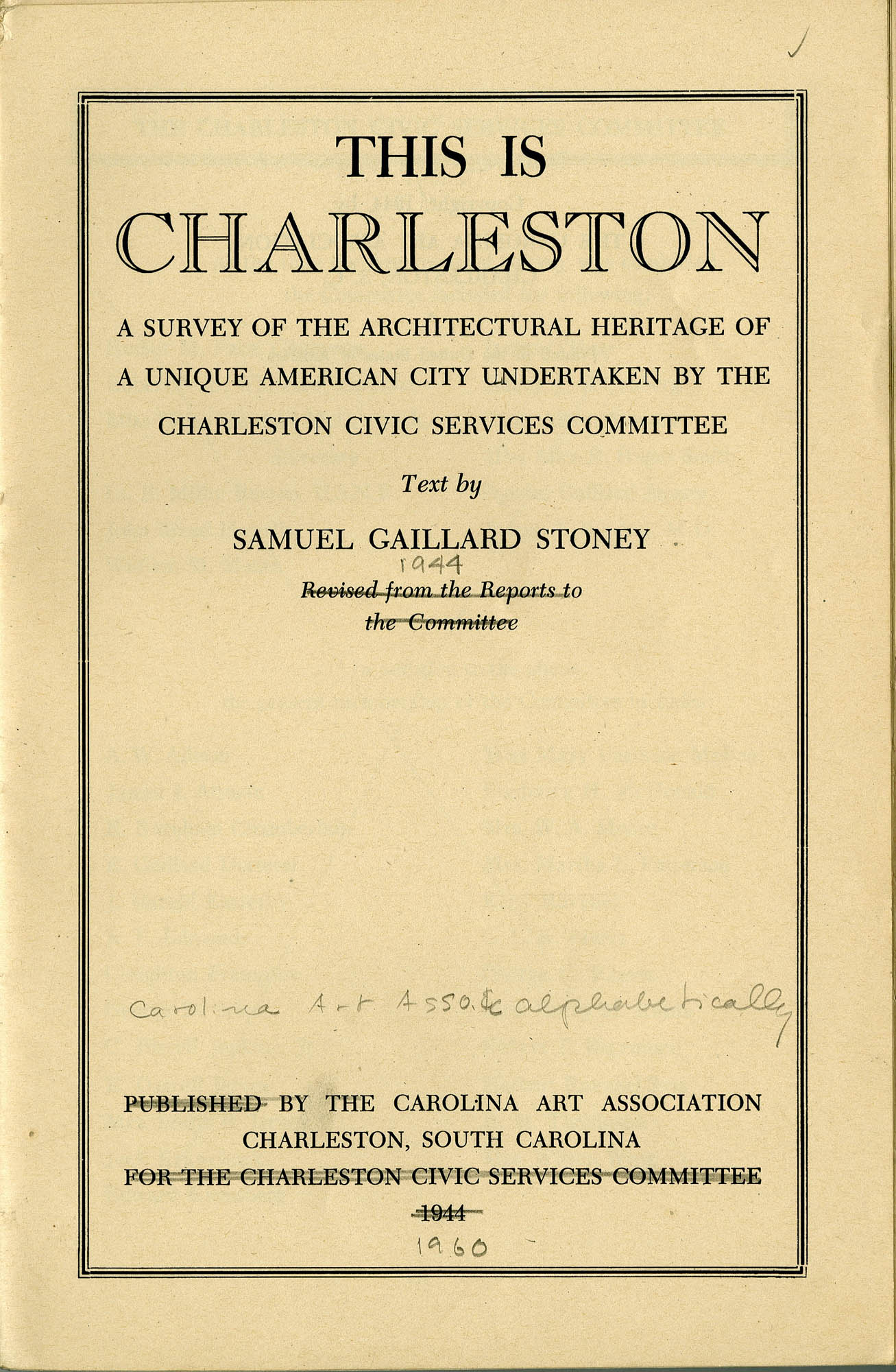 Folder 28: This is Charleston title page