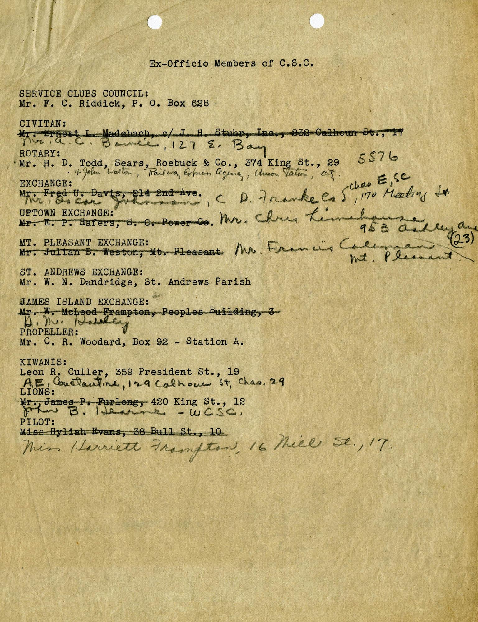 Folder 04: CSC Membership List 4