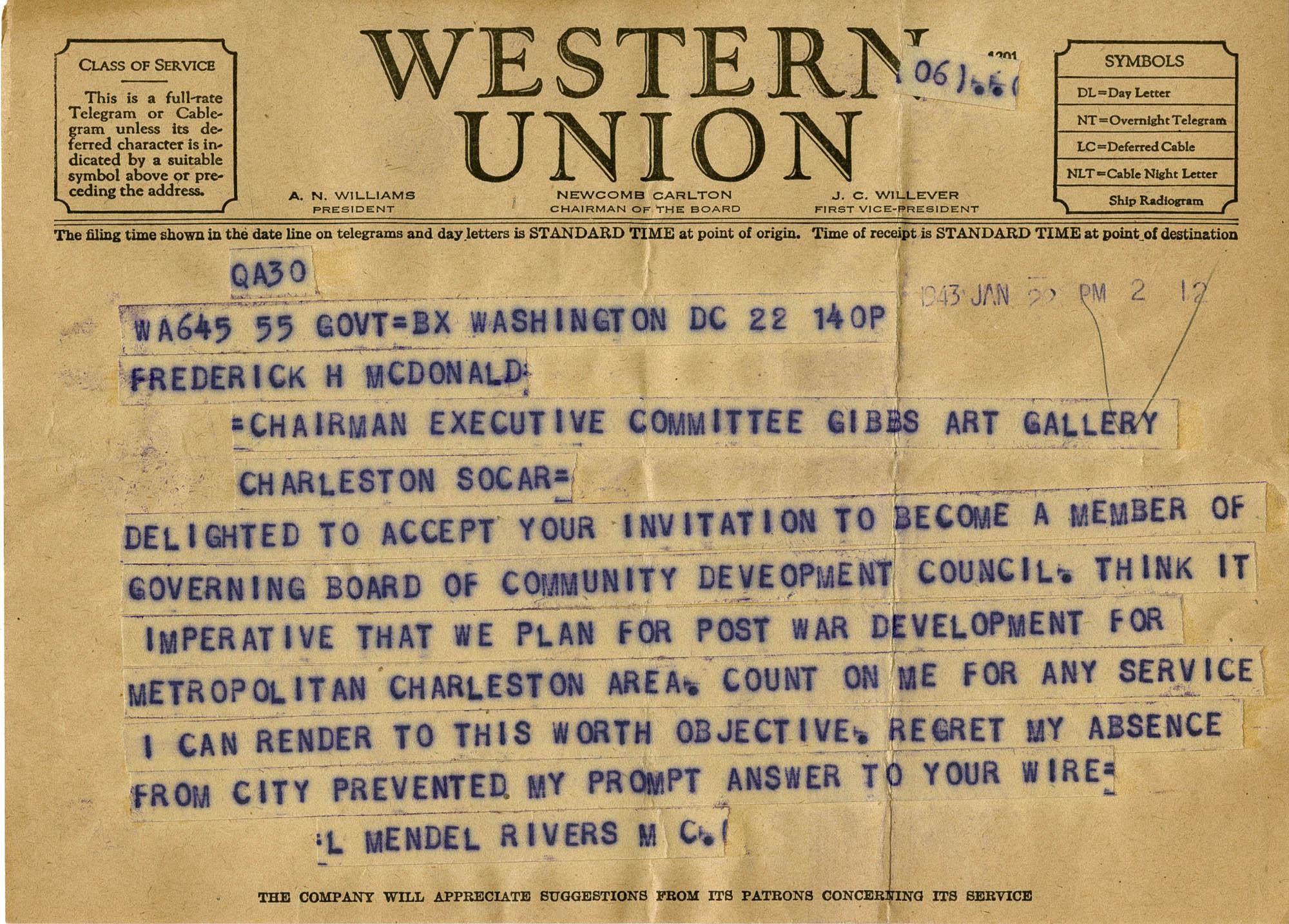 Folder 32: Wallace Letter 1