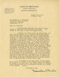 Folder 20: Olmsted Letter 14