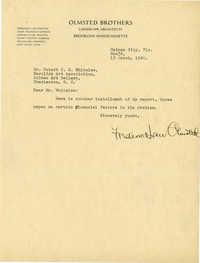 Folder 20: Olmsted Letter 13