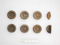Army wood buttons