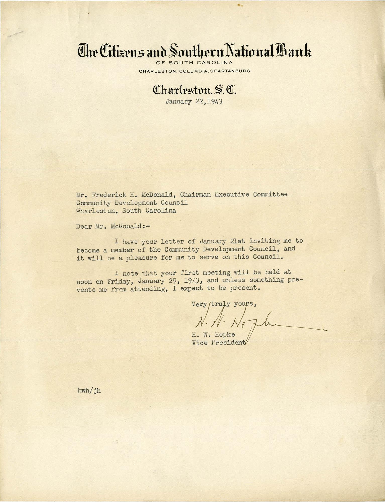 Folder 32: Hopke Letter