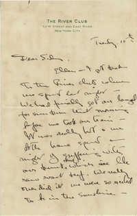 Undated Letter 1 from Gertrude Sanford Legendre