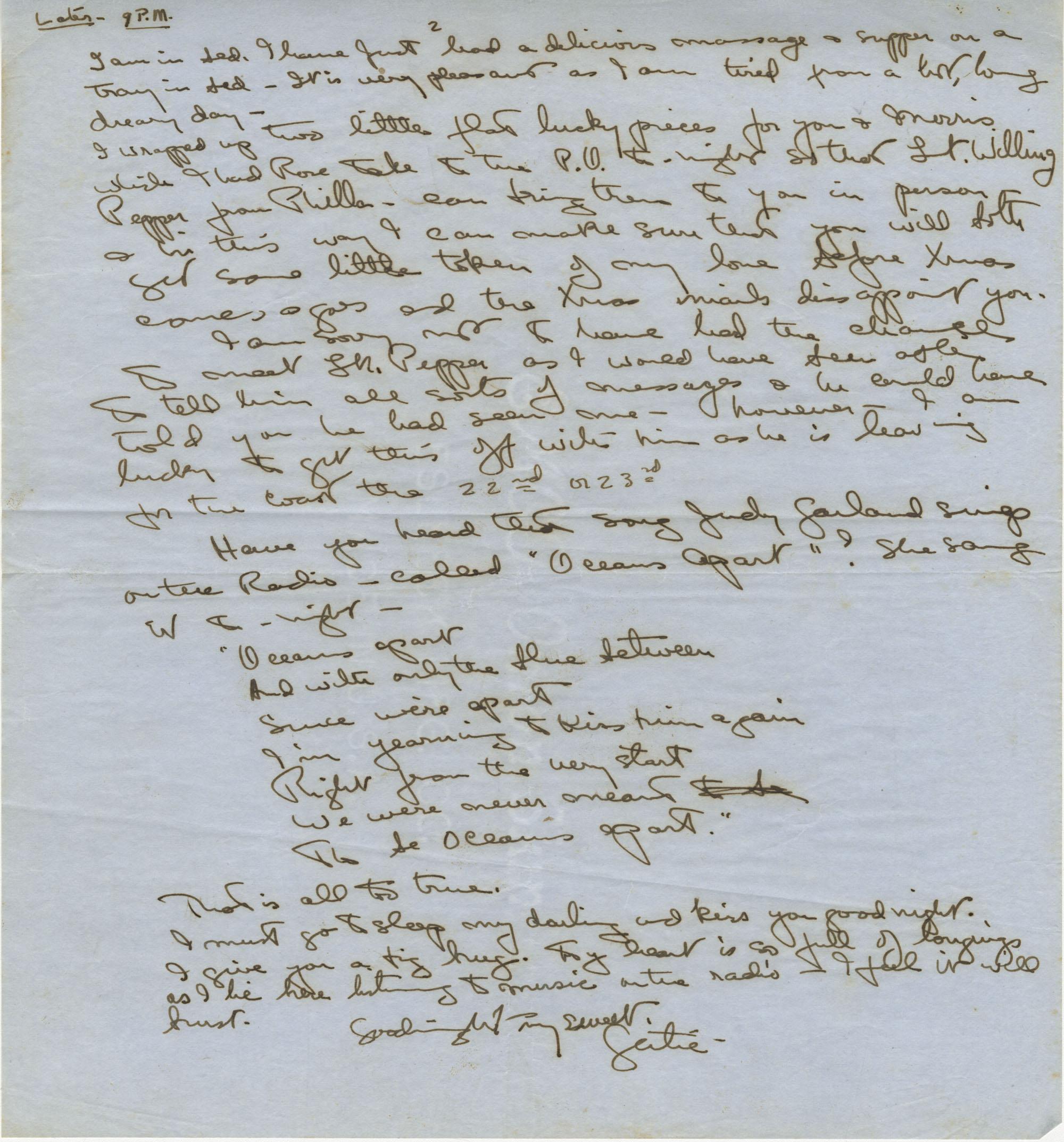 Undated Letter 2 from Gertrude Sanford Legendre