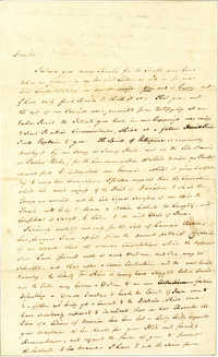 Letter from William Duer to Nathanael Greene