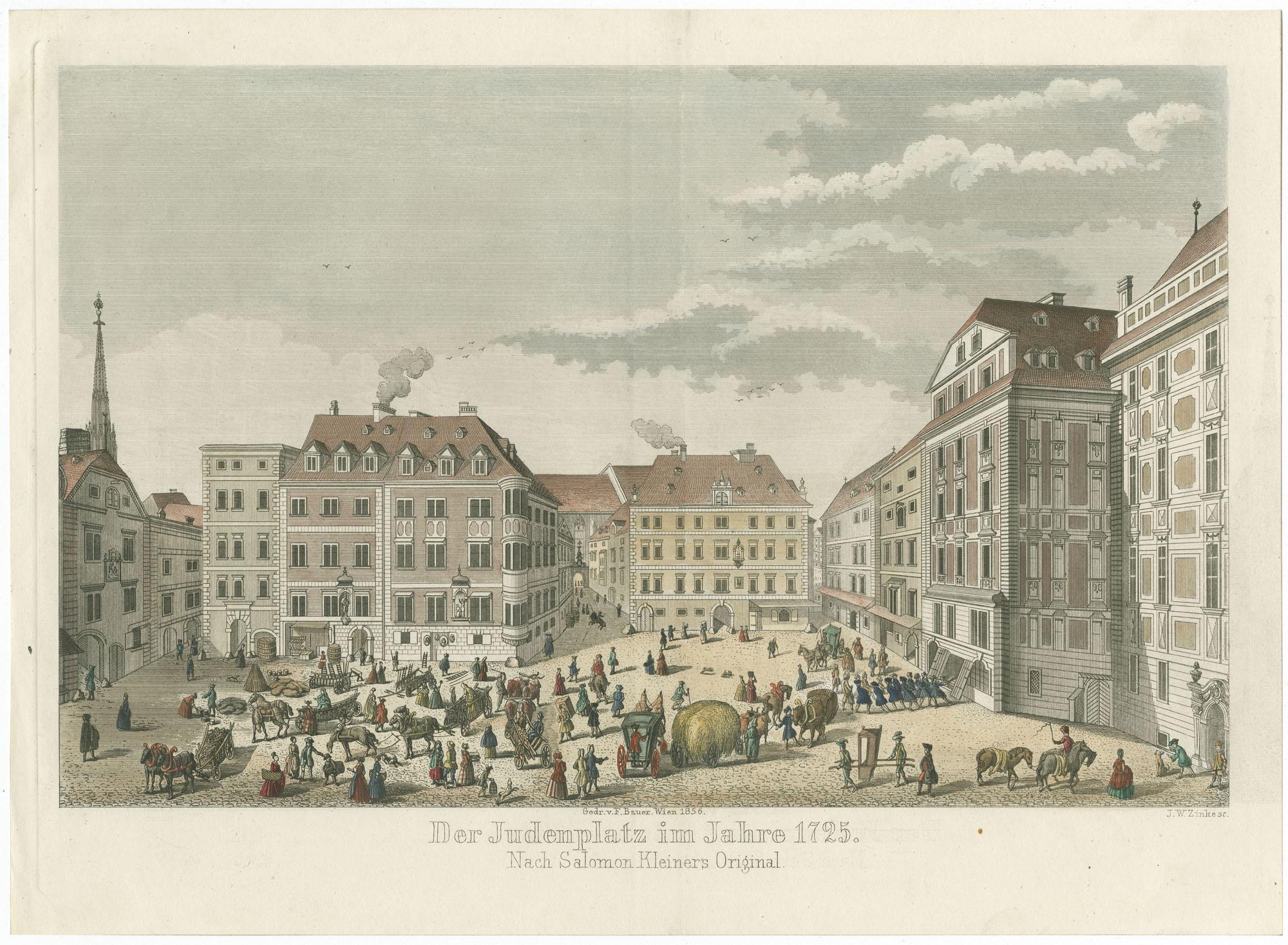 Der Judenplatz im Jahre 1725