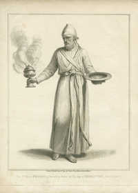 The High-Priest, in his white Robe, on the day of Expiation, from Calmet