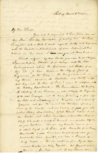 Letter from William Duer to Robert Morris