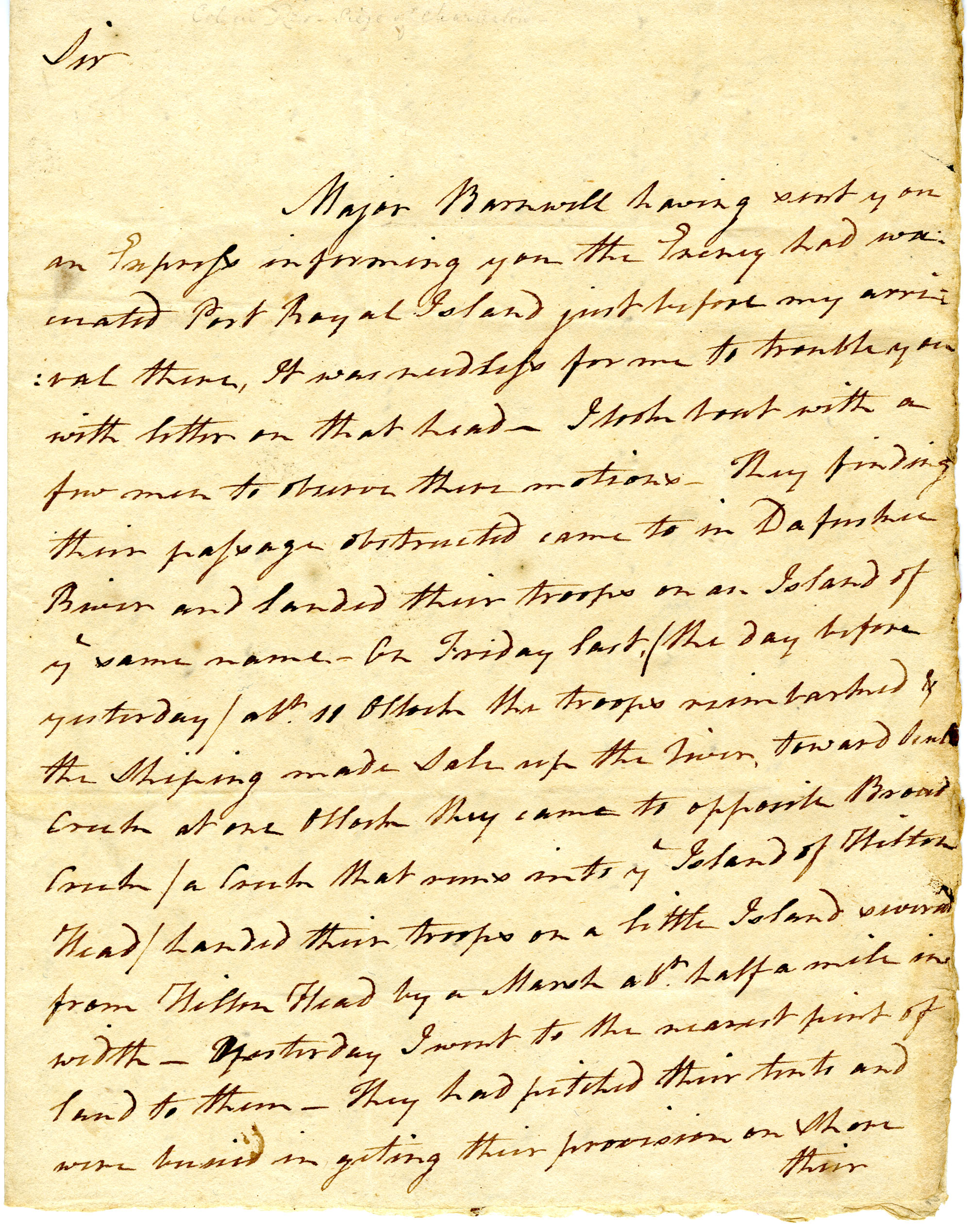 Letter from Benjamin Garden to Benjamin Lincoln