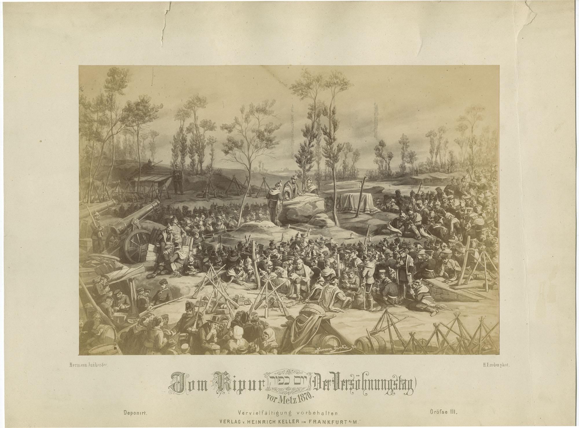 Jom Kippur (Der Versöhnungstag) vor Metz 1870