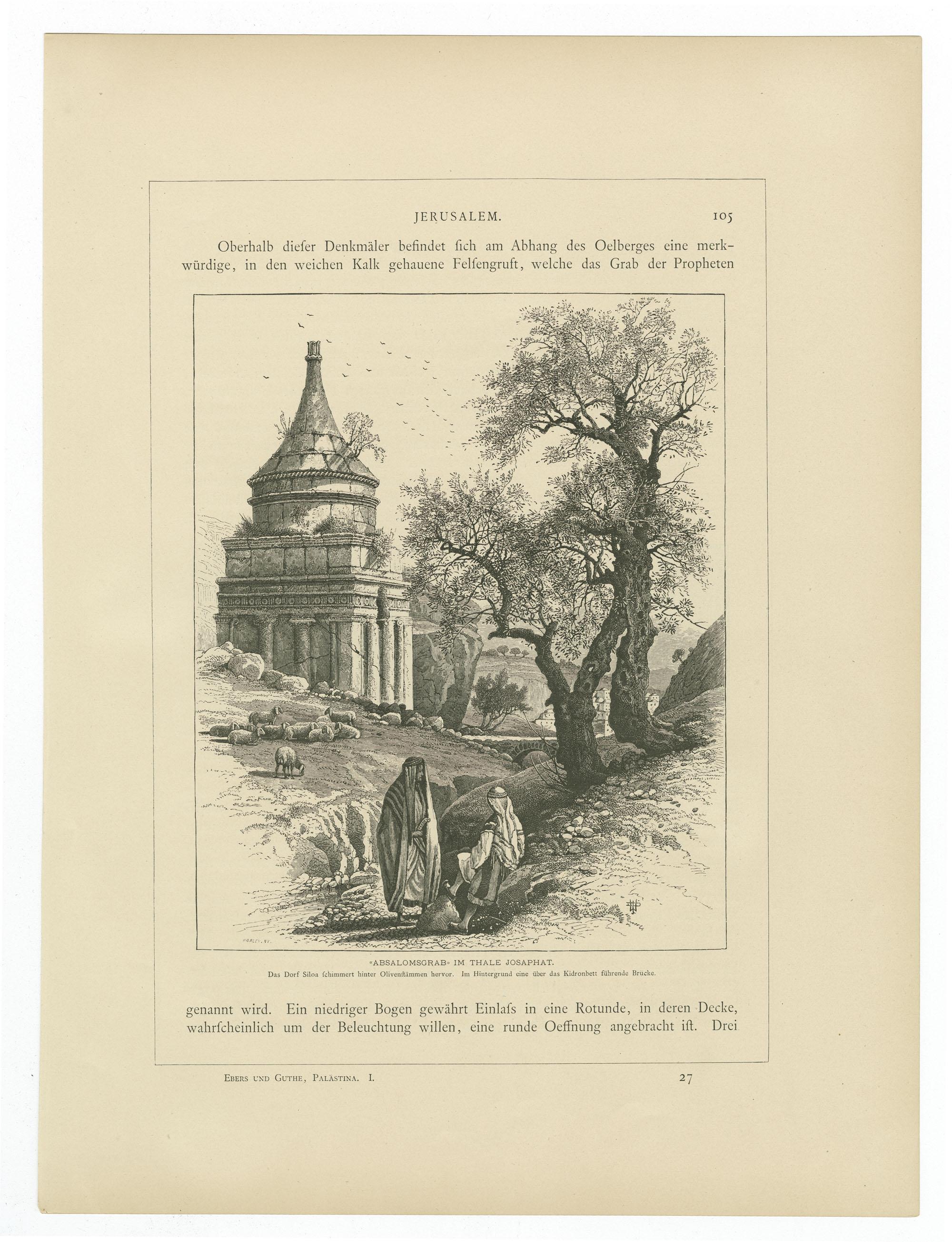 Absalomsgrab im Thale Josaphat