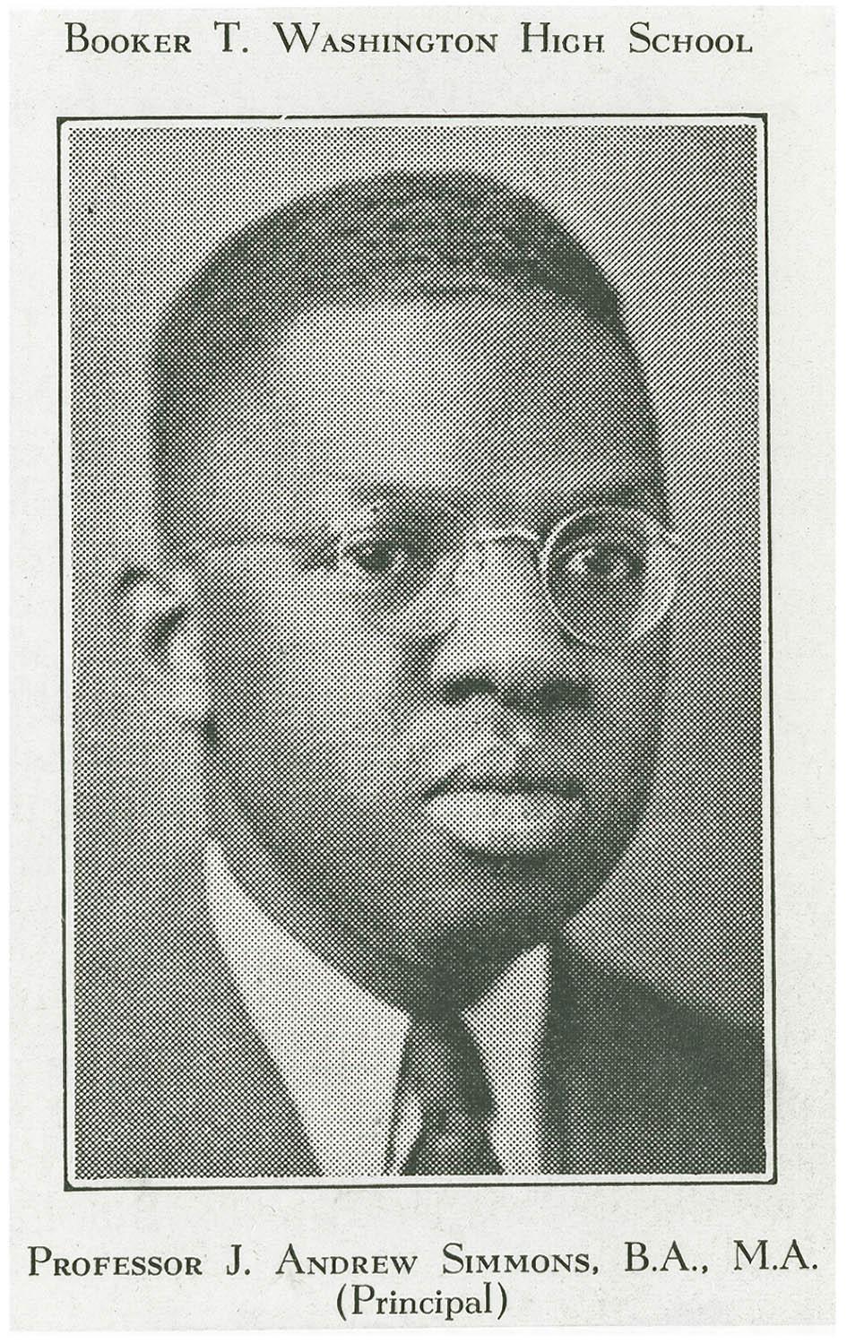 Portrait of Avery Alumnus and Teacher, Professor J. Andrew Simmons