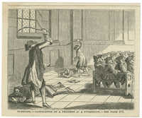 Flogging.--Castigation of a penitent in a synagogue.