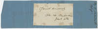 Thomas S. Grimke Autograph Collection, autograph of Bishop Henry Ustick Onderdonk, undated