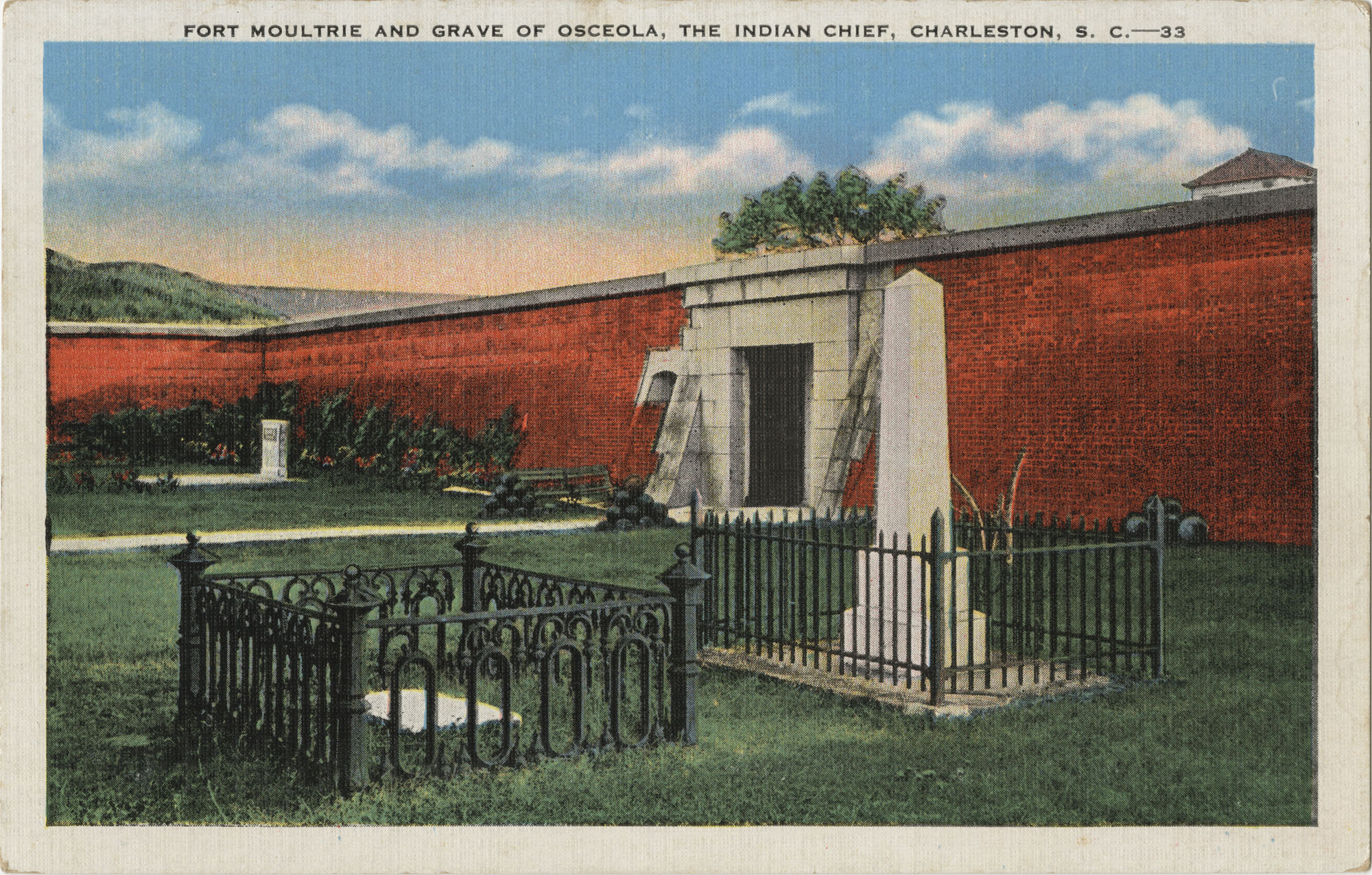Fort Moultrie and Grave of Osceola, The Indian Chief, Charleston, S.C.