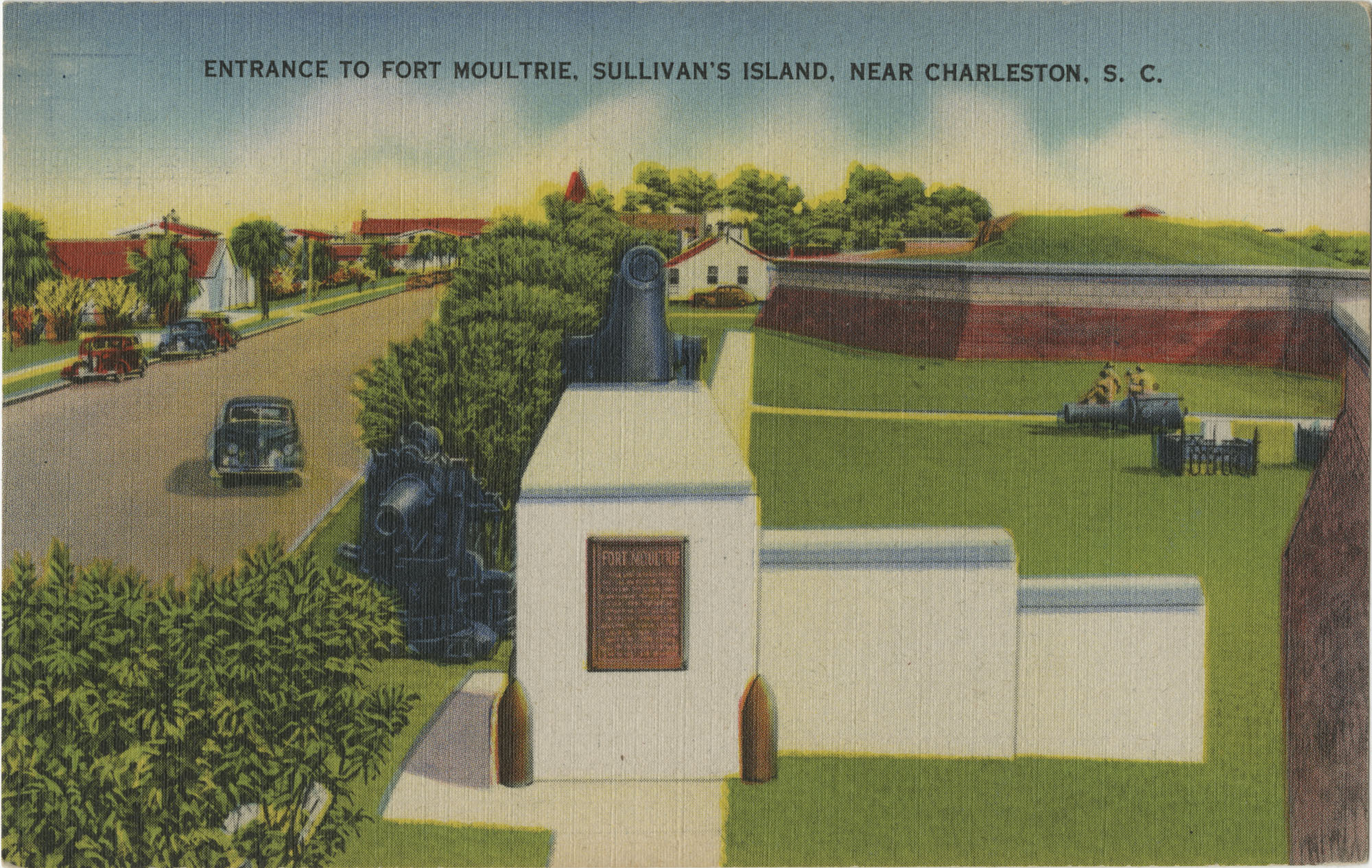 Entrance to Fort Moultrie, Sullivan's Island, Near Charleston, S.C.