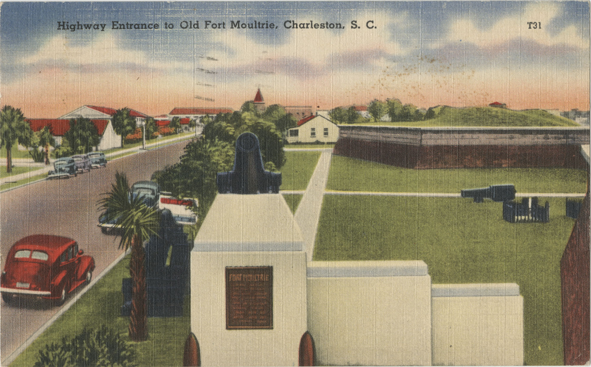 Highway Entrance to Old Fort Moultrie, Charleston, S.C.