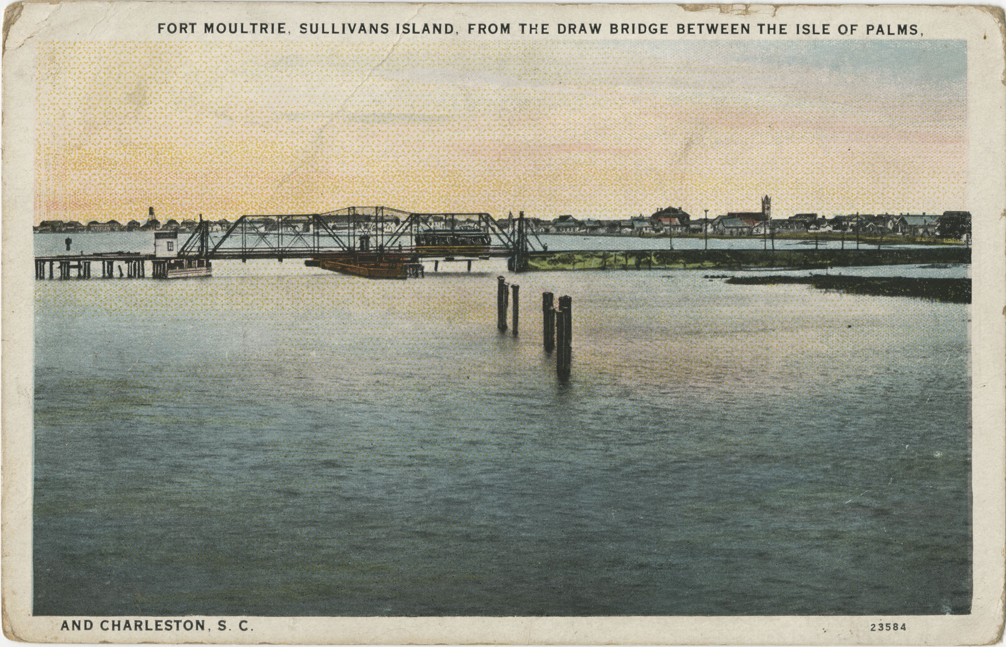 Fort Moultrie, Sullivan's Island, from the Draw Bridge between the Isle of Palms and Charleston, S.C.
