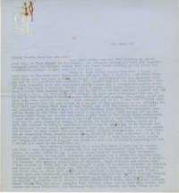 Letter from Gertrude Sanford Legendre, January 25, 1943