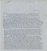 Letter from Gertrude Sanford Legendre, January 24, 1944