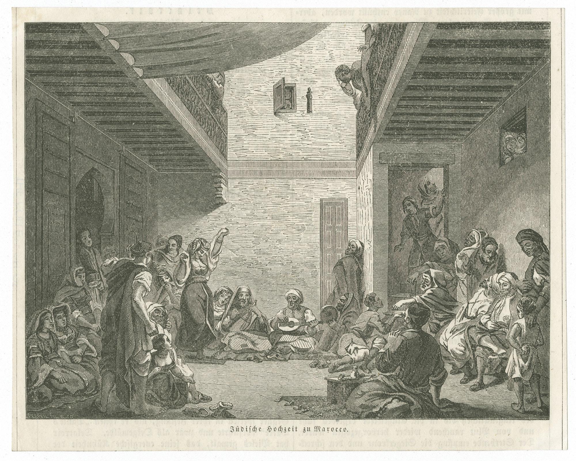 Jüdische Hochzeit zu Marocco