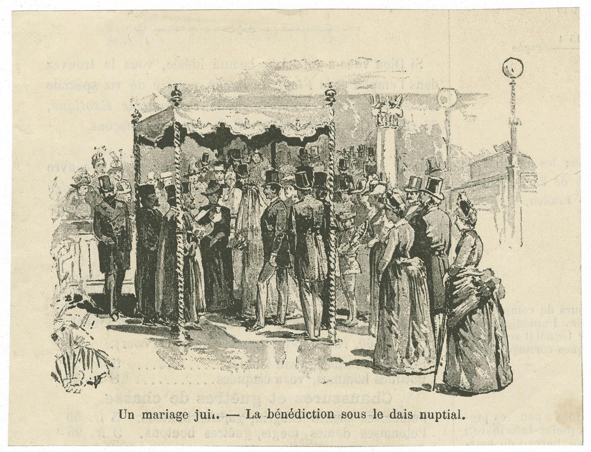Un mariage juif.--La bénédiction sous le dais nuptial.
