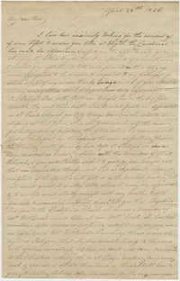 Letter to Ann R. Frost from her mother, Mary Smith Grimke, April 28, 1826