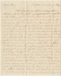 Letter to Ann R. Frost from her mother, Mary Smith Grimke, December 17, 1825
