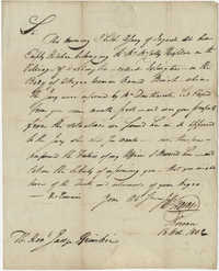 Letter to John F. Grimke from Coroner J.H. Stevens, October 26, 1802