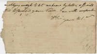 Fragment of a letter from John F. Grimke to a General