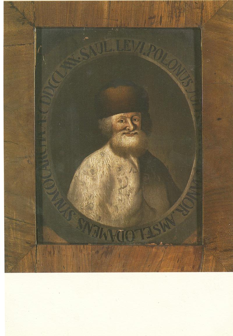 Opperrabijn Saul Levi Löwenstam, oliever op paneel / Chief Rabbi Saul Levi Löwenstein, oil on panel, 1780