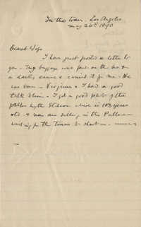 Unfinished letter from Theodore Drayton Grimke-Drayton to his wife.