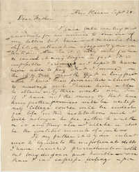 Letter from Drayton Grimke, to his father, Thomas S. Grimke, September 28, 1828