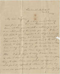 Letter from [Alex?] Campbell to Theodore Grimke-Drayton, December 3-4, 1834