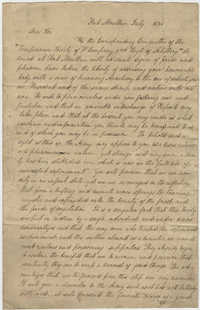 Letter to Thomas S. Grimke as President of the Temperance Society from Committee Members of the Temperance Society of 'F' Company, 2nd Regiment of Artillery, July 1831