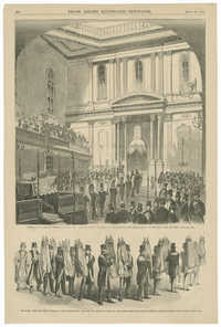Consecration of the new Jewish Synagogue the