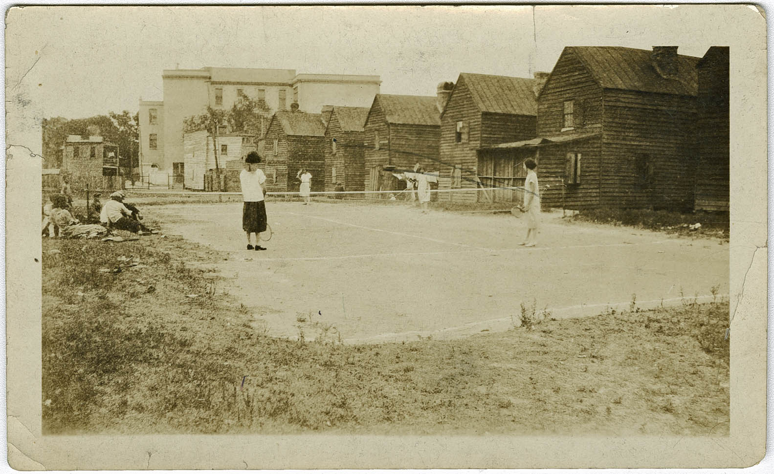 Averyites Play Tennis at the YMCA on Cannon Street