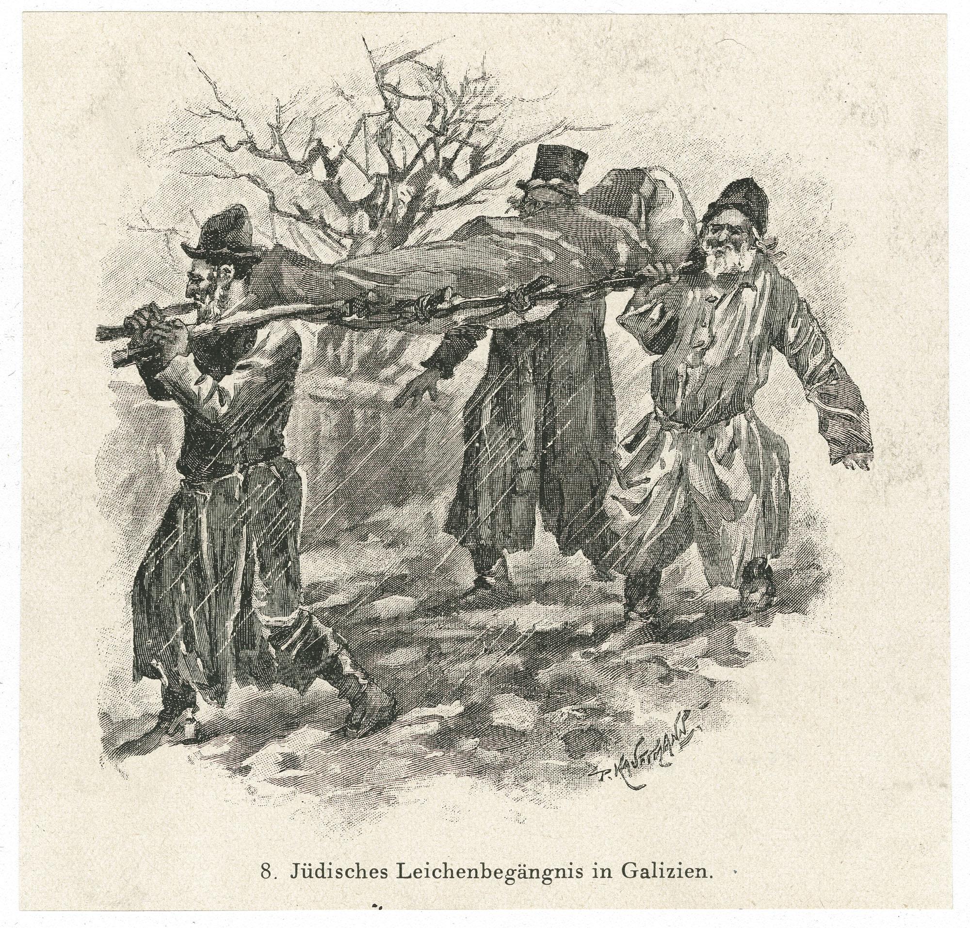 Jüdisches Leichenbegängnis in Galizien
