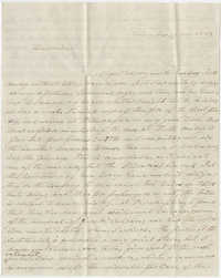 Letter to Marianne Haskell from her uncle, Frederick Grimke, November 19, 1862