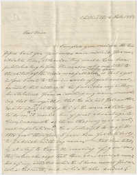 Letter to Marianne Haskell from her uncle, Frederick Grimke, February 8, 1863
