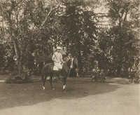 Mario Pansa astride a horse, Photograph 4