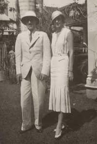 King Alfonso XVIII and Bettine Abingdon in Sri Lanka
