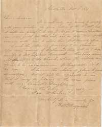 037. Nathaniel Heyward to Mrs. Barnwell -- November 5, 1819