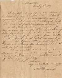 034. Nathaniel Heyward to Mrs. Barnwell -- August 23, 1819