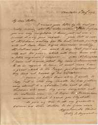 025. Hetty B. Heyward to Mother -- August 5, 1818